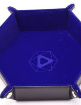 Die Hard Dice DICE TRAY: BLUE HEXAGON - FOLDING