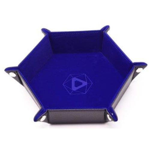 Die Hard Dice DICE TRAY: BLUE HEXAGON - FOLDING