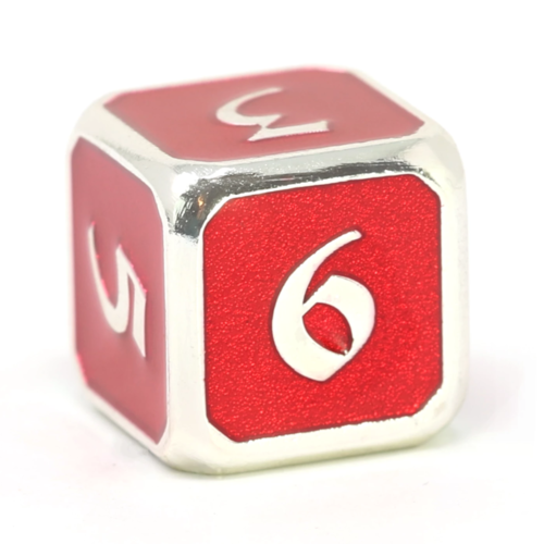 Die Hard Dice MYTHICA DICE D6 RUBY SILVER