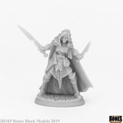 Reaper Miniatures BONES BLACK: DARK ELF FEMALE