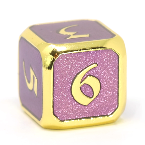 Die Hard Dice MYTHICA DICE D6 AMETHYST GOLD