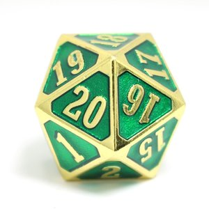 Die Hard Dice GOTHICA D20 SPINDOWN GREEN