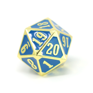 Die Hard Dice GOTHICA D20 SPINDOWN BLUE
