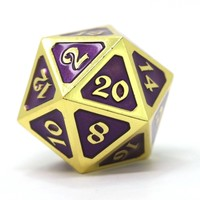 DIRE D20 MYTHICA AMETHYST GOLD
