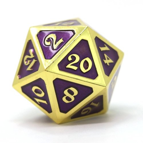 Die Hard Dice DIRE D20 MYTHICA AMETHYST GOLD