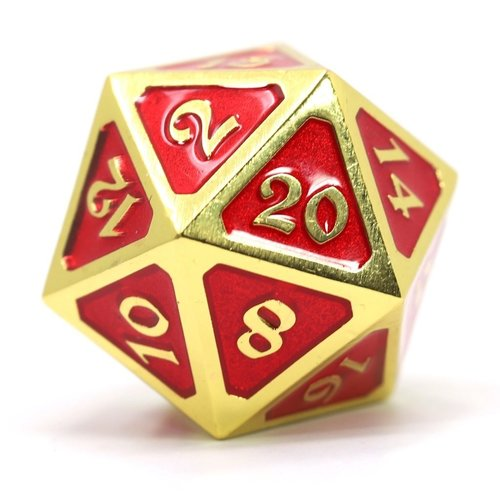 Die Hard Dice DIRE D20 MYTHICA RUBY GOLD