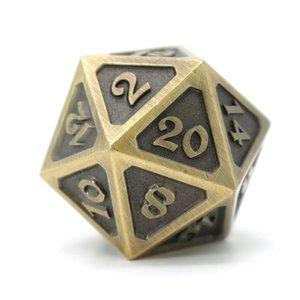 Die Hard Dice DIRE D20 - MYTHICA BATTLEWORN GOLD