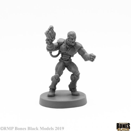 Reaper Miniatures BONES BLACK: KERYX CYBORG ASSASSIN