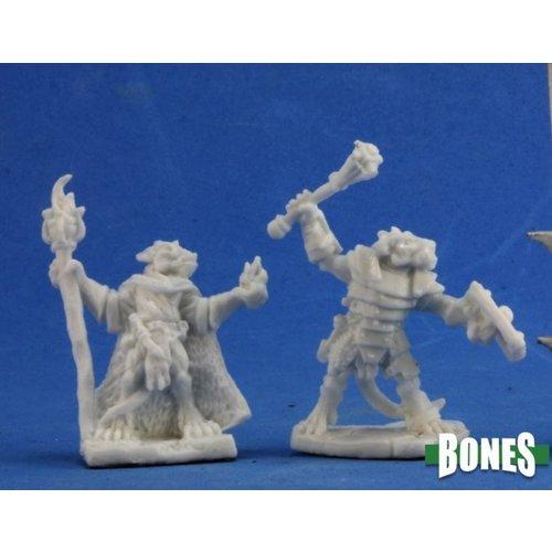 Reaper Miniatures BONES: KOBOLD LEADERS (2)