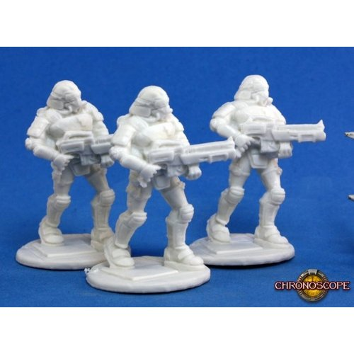 Reaper Miniatures BONES: CHRONOSCOPE: NOVA CORP RIFLEMAN (3)