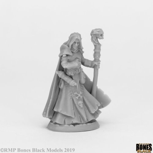Reaper Miniatures BONES BLACK: DARK ELF WIZARD