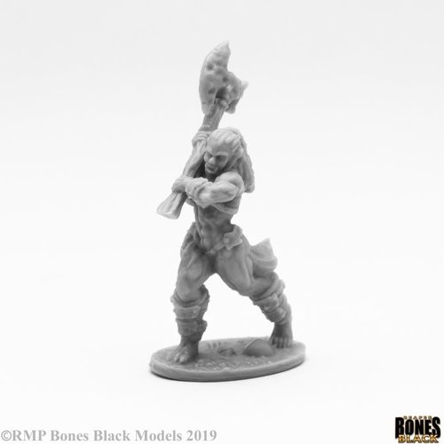 Reaper Miniatures BONES BLACK: JADE FIRE CHAMPION