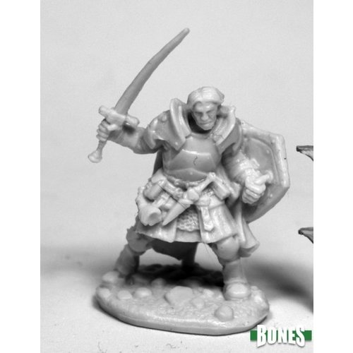 Reaper Miniatures BONES: RHEAGAR, MALE FIGHTER