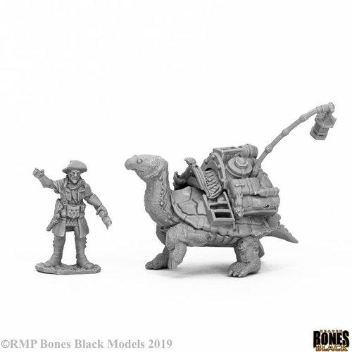 Reaper Miniatures BONES BLACK: TORTOISE/ DRAYMAN