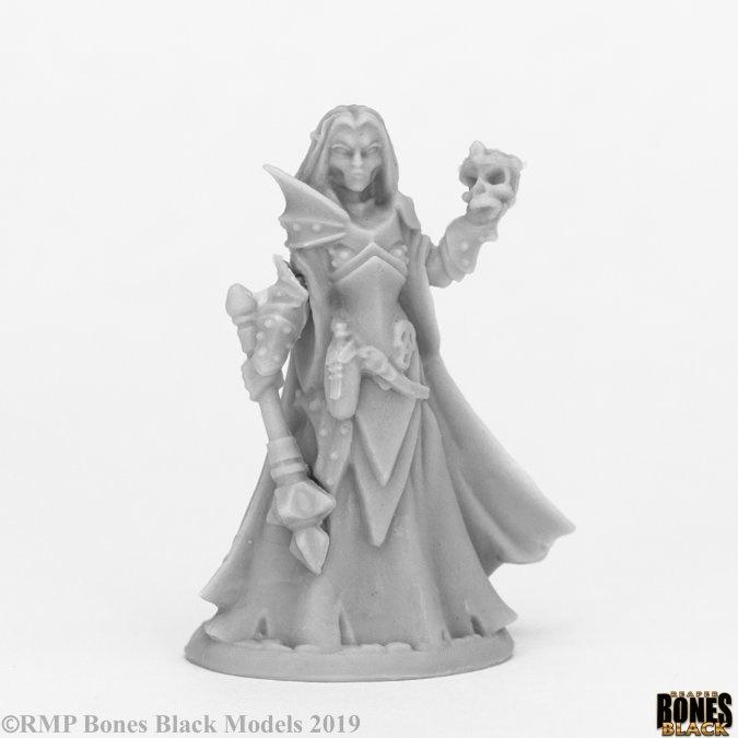 Reaper Miniatures BONES BLACK: DARK ELF PRIESTES