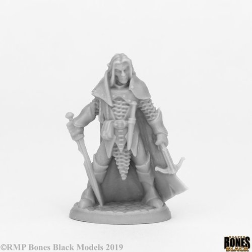 Reaper Miniatures BONES BLACK: DARK ELF MALE WAR
