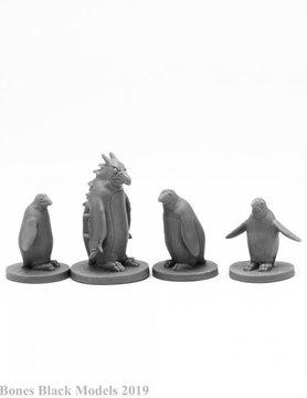 Reaper Miniatures BONES BLACK: PENGUIN ATTACK PACK (4)