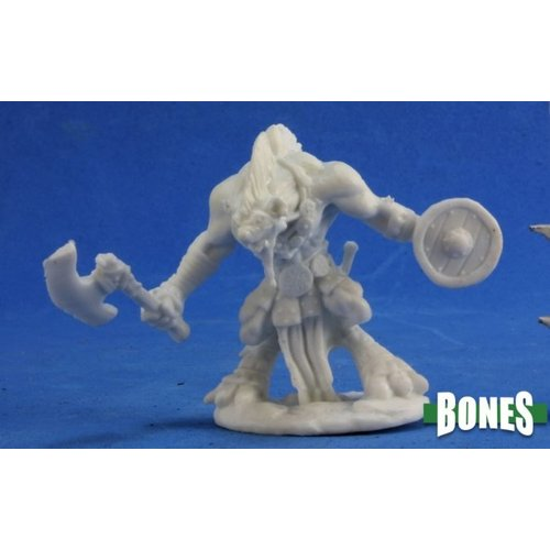 Reaper Miniatures BONES: GNOLL WARRIOR - AXE & SHIELD
