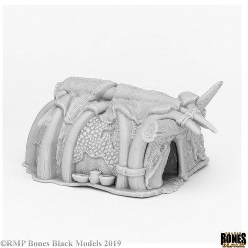 Reaper Miniatures BONES BLACK: RUNEHORN HUT