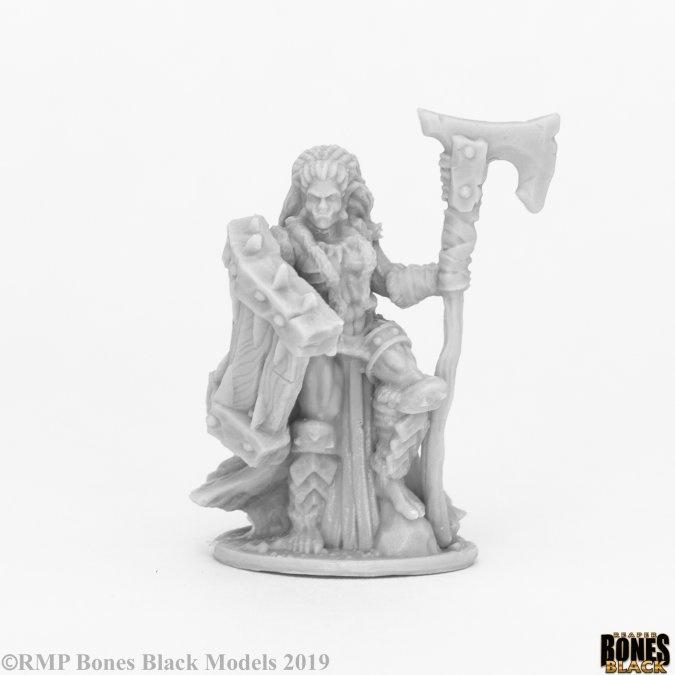 Reaper Miniatures BONES BLACK: JADE FIRE CHIEF