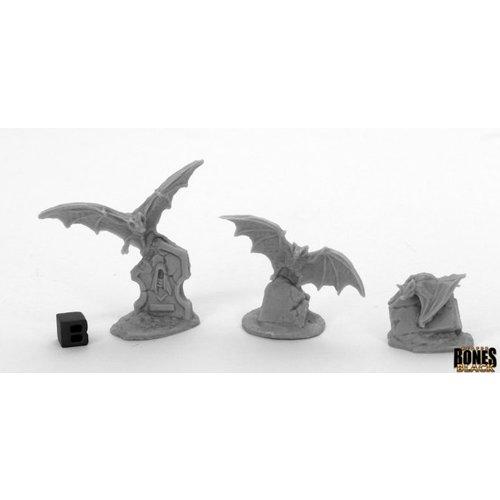 Reaper Miniatures BONES BLACK: GIANT BATS (3)