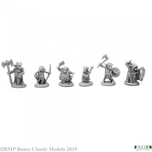 Reaper Miniatures BONES: KOBOLD LEADERS (6)