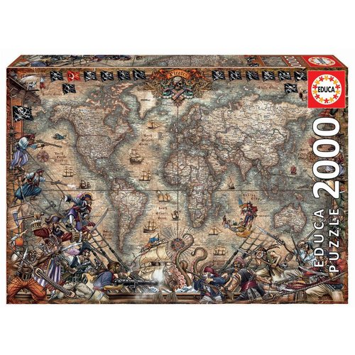 Educa ED2000 PIRATES MAP
