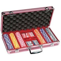 POKER CHIP SET 300 11G in ROSE CASE
