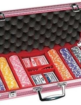 CHH QUALITY PRODUCTS POKER CHIP SET 300 11G in ROSE CASE