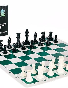 BEST CHESS SET EVER - Triple-Weighted Pieces, Green Silicone Board