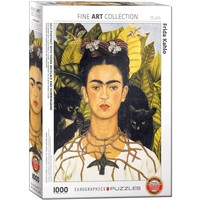 EG1000 KAHLO - SELF PORTRAIT WITH THORN NECKLACE AND HUMMINGBIRD