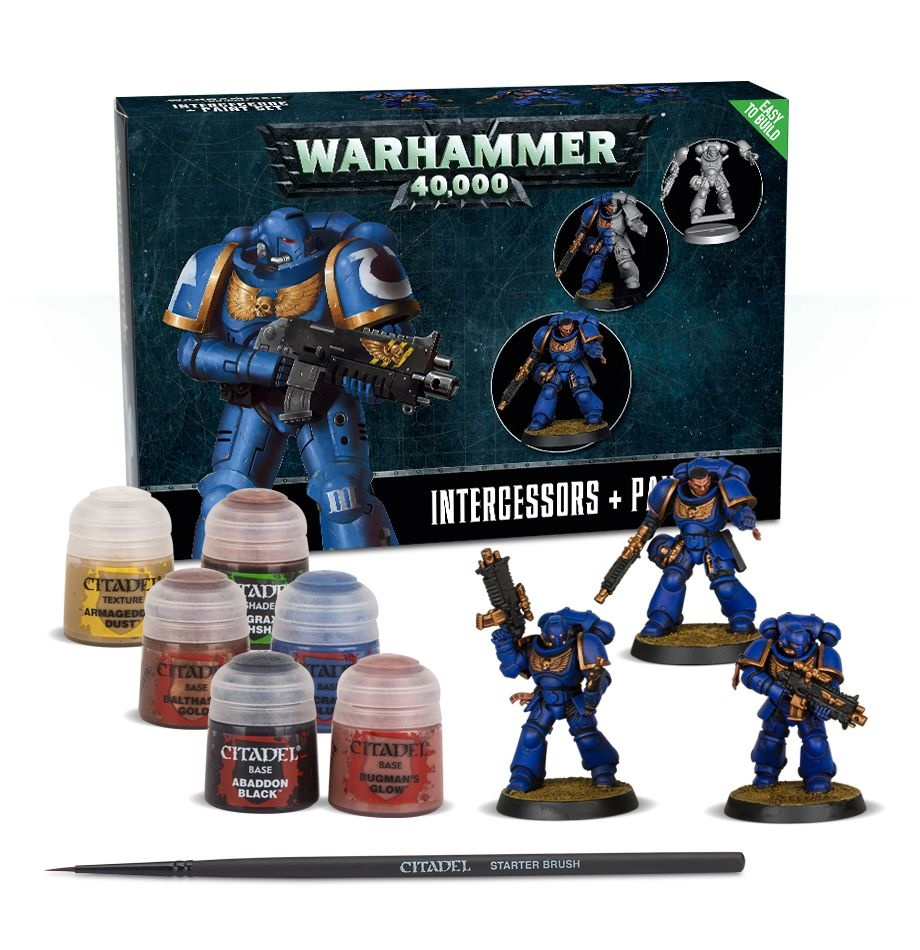Games Workshop 40K SM INTERCESSORS PAINT SET