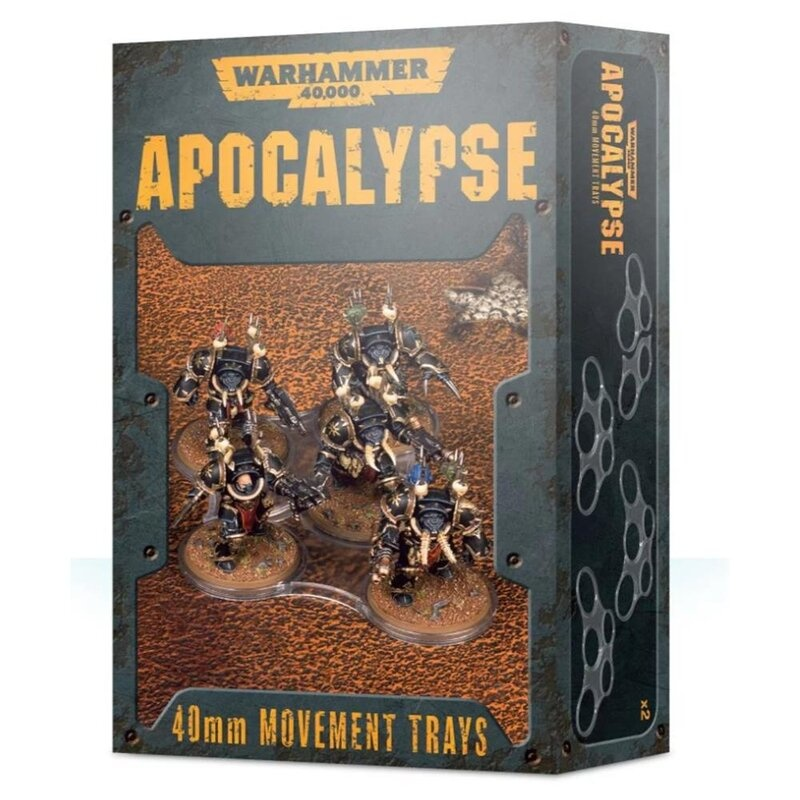 Games Workshop 40K APOCALYPSE 40MM M/TRAYS