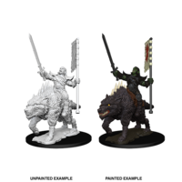 MINIS: PF: ORC ON DIRE WOLF
