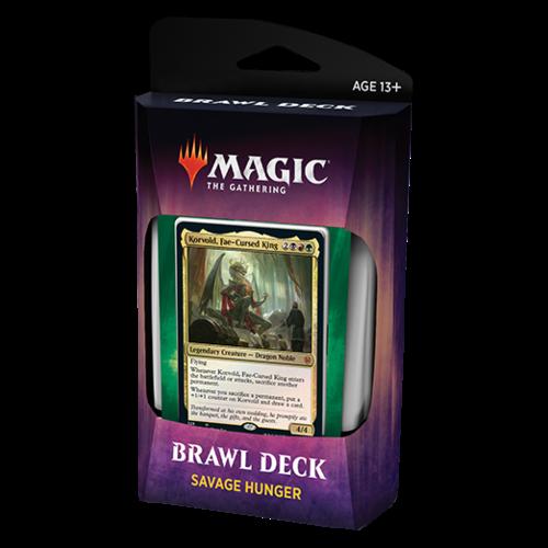 Wizards of the Coast MTG: THRONE OF ELDRAINE BRAWL DECK - SAVAGE HUNGER - KORVOLD