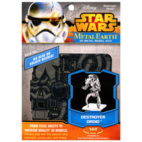 3D METAL EARTH STAR WARS DESTROYER DROID