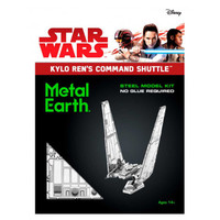 3D METAL EARTH STAR WARS KYLO RENS SHUTTLE