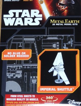 FASCINATIONS TOYS 3D METAL SW IMPERIAL SHUTTLE