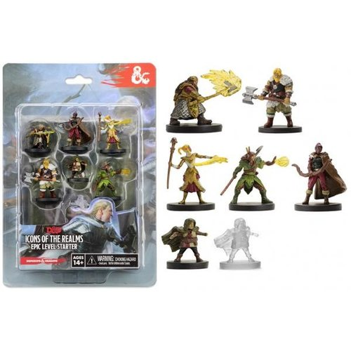Wizkids MINIS: D&D: ICONS OF THE REALMS - EPIC LEVEL STARTER SET