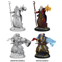MINIS: D&D: HUMAN MALE WIZARD (STAFFS)