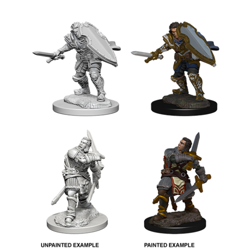 Wizkids MINIS: D&D: HUMAN MALE PALADIN (SWORD & SHIELD)