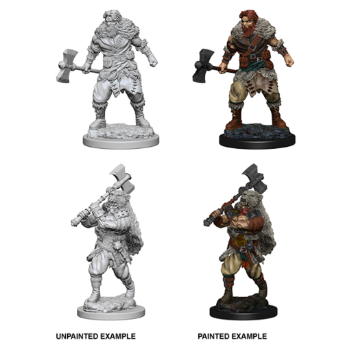 Wizkids MINIS: D&D: HUMAN MALE BARBARIAN (DOUBLE-HEADED AXE)