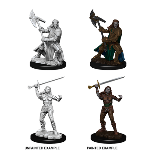 Wizkids MINIS: D&D: HALF-ORC FEMALE FIGHTER