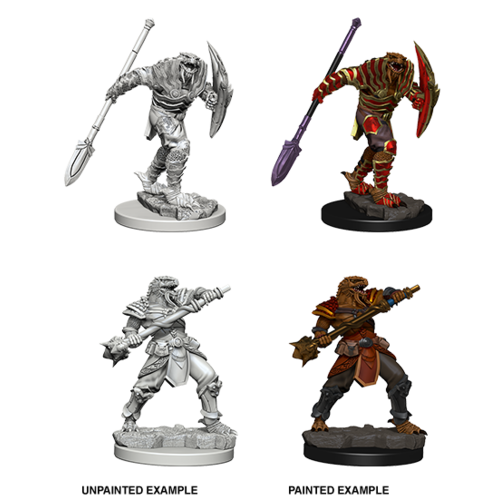 Wizkids MINIS: D&D: DRAGONBORN MALE FIGHTER (SPEAR)