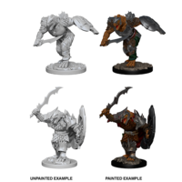 MINIS: D&D: DRAGONBORN MALE FIGHTER (SHORT SWORD & SHIELD)