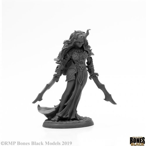 Reaper Miniatures BONES BLACK: ZIBA, FEMALE EFREETI