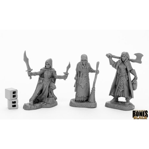 Reaper Miniatures BONES BLACK: WOMEN OF DREADMER