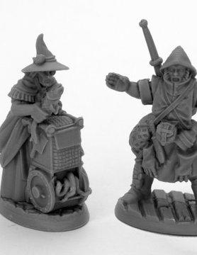 Reaper Miniatures BONES BLACK: TOWNSFOLK MONGER