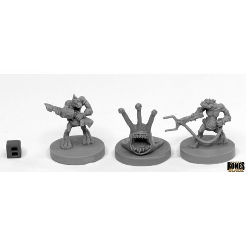 Reaper Miniatures BONES BLACK: SLIGG & SQUARG (3)