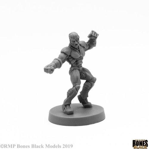 Reaper Miniatures BONES BLACK: SLADE CYBORG HERO
